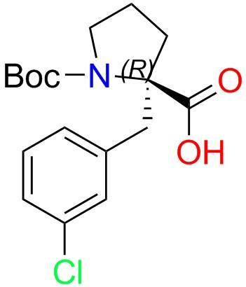 Boc-(R)-alpha-(3-chlorobenzyl)-proline